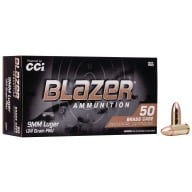 CCI AMMO 9MM 124gr FMJ BLAZER BRASS 50/bx 20/cs
