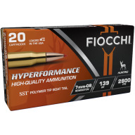 FIOCCHI AMMO 7MM-08 REMINGTON 139gr HORNADY SST 20/bx 10/cs