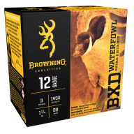 "BROWNING AMMO 12ga 3"" 1.25oz 1450fps #BB 25/bx 10/cs"