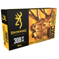 BROWNING AMMO 308 WINCHESTER 168gr BIG GAME BXC 20/bx 10/cs