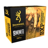 BROWNING AMMO 9MM LUGER 147gr PD BXP 20/bx 10/cs