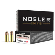 NOSLER AMMO 9MM 115gr JHP MATCH 50/box 10/cs