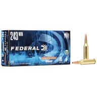 FEDERAL AMMO 243 WINCHESTER 85gr COPPER (P/S) 20/bx 10/cs