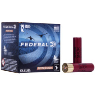 "FEDERAL AMMO 12ga 3.5"" STEEL 1500fps 1.5oz #2 25b 10c"