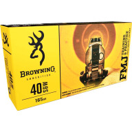 BROWNING AMMO 40 S&W 165gr FMJ 50/bx 10/cs