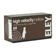ELEY AMMO 22LR 40gr HIGH- VEL HP 1250fps 50/b 100/c