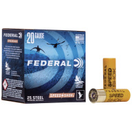 "FEDERAL AMMO 20ga 2.75"" STEEL 1425fps 3/4oz #4 25b 10c"