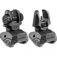 MAKO AR-15 FRONT AND REAR SET OF FLIP-UP SIGHTS BLK