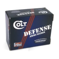 COLT AMMO 45 ACP 230gr JHP DEFENSE 20/BX 10/CS
