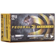 FEDERAL AMMO 22LR 40gr HP HUNTER MATCH 50/bx 100/cs