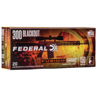FEDERAL AMMO 300 BLACKOUT 150gr FUSION MSR 20b 10c