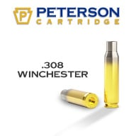 PETERSON BRASS 308 WINCHESTER MATCH UNPRIMED 50/bx