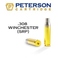 PETERSON BRASS 308 WINCHESTER SRP UNPRIMED 50/bx