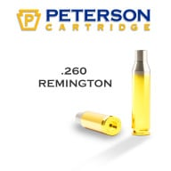PETERSON BRASS 260 REMINGTON UNPRIMED 50/bx