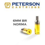 Peterson Brass 6mm BR Norma Unprimed Box of 50