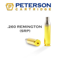 PETERSON BRASS 260 REMINGTON SRP UNPRIMED 50/bx