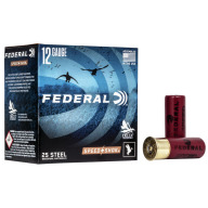"FEDERAL AMMO 12ga 23/4"" STEEL 1-1/8 #4 25bx 10cs"