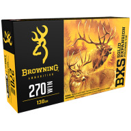 BROWNING AMMO 270 WINCHESTER 130gr LEAD FREE BXS 20/bx 10/cs