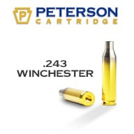 PETERSON BRASS 243 WINCHESTER UNPRIMED 50/bx
