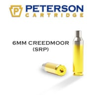 PETERSON BRASS 6MM CREED MOOR SRP UNPRIMED 50/bx