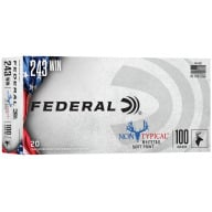 FEDERAL AMMO 243 WINCHESTER 100gr NON-TYPICAL SP 20/bx 10/c