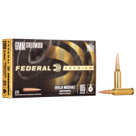 FEDERAL AMMO 6mm CREED 105gr BERGER HYB BTHP 20/b 10/c