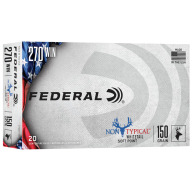 FEDERAL AMMO 270 WINCHESTER 150gr SP NON-TYPICAL 20/bx 10/cs