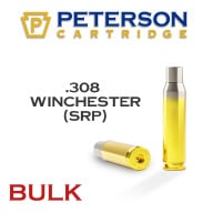 Peterson Brass 308 Winchester Small Primer Unprimed Bulk Box of 500
