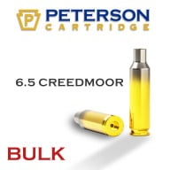 Peterson Brass 6.5 Creedmoor Unprimed Bulk Box of 500