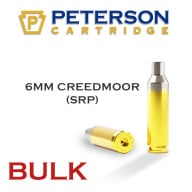 PETERSON BRASS 6MM CREED MOOR SRP UNPRIMED 500/bx