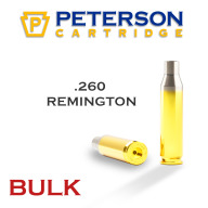 Peterson Brass 260 Remington Unprimed Bulk Box of 500