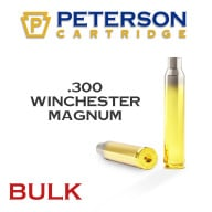 Peterson Brass 300 Winchester Mag Unprimed Bulk Box of 250