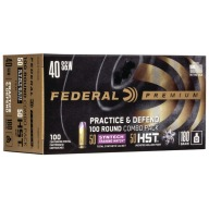 Federal Ammo 40 S&W 180gr Practice & Defense Combo Box of 100