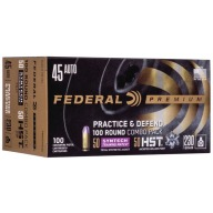Federal Ammo 45 ACP 230gr Practice & Defense Combo Box of 100