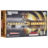 FEDERAL AMMO 7MM REMINGTON MAG 150gr SWIFT SCIROCCO 20b