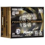 FEDERAL AMMO 40 S&W 165gr PUNCH JHP 20/bx 10/cs