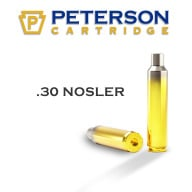 Peterson Brass 30 Nosler Unprimed Box of 50