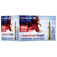 FEDERAL AMMO 223 REMINGTON 55gr FMJ -BT AM.-EAGLE 100/bx 5/cs