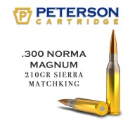 PETERSON AMMO 300 NORMA MAG 210g SRA MKHPBT 20/BX