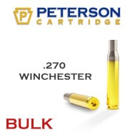 Peterson Brass 270 Winchester Unprimed Bulk Box of 500