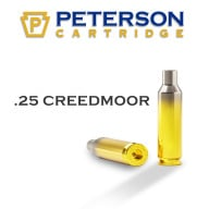 Peterson Brass 25 Creedmoor Unprimed Box of 50