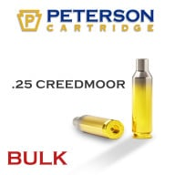 Peterson Brass 25 Creedmoor Unprimed Bulk Box of 500