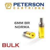PETERSON BRASS 6MM BR NORMA UNPRIMED 500/bx