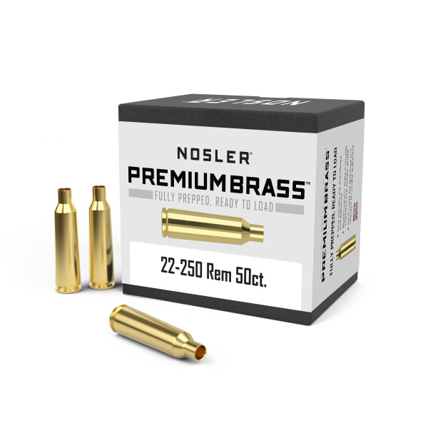 nosler brass 22 250 remington unprimed box of 50 graf sons