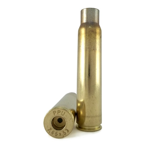 Prvi Partizan Brass 7.65x53 Argentine Mauser Unprimed Bag of 100
