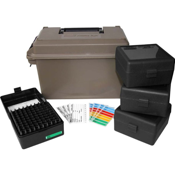 mtm ammo can for 223 remington w 4 rs 100s dark earth 6c. Black Bedroom Furniture Sets. Home Design Ideas