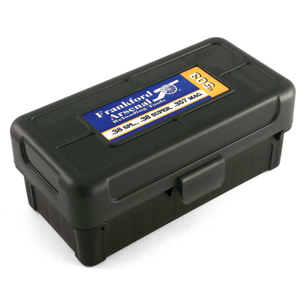 Frankford Arsenal Plastic Hinge-Top Ammo Box #503 50 Rounds