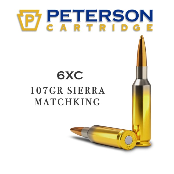 PETERSON AMMO 6XC 107gr SIERRA MATCH KING 20/BX